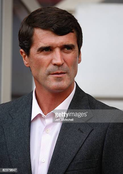 Sunderland Manager Roy Keane looks on prior to the Barclays Premier League match between Sunderland and Liverpool at The Stadium of Light on August...
