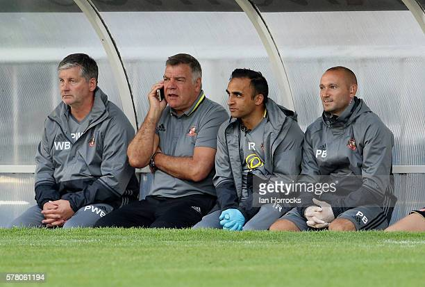 Sunderland manager Sam Allardyce during the preseason friendly match between Sunderland AFC and Hartlepool United at Victoria Park on July 20 2016 in...