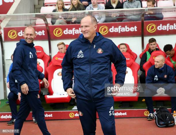 Sunderland manager Simon Grayson during the Sky Bet Championship match between Sunderland and Cardiff City at Stadium of Light on September 23 2017...