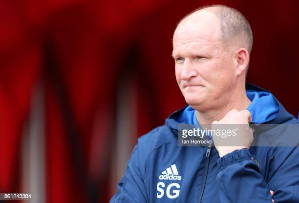 Sunderland manager Simon Grayson during the Sky Bet Championship match between Sunderland and Queens Park Rangers at Stadium of Light on October 14...
