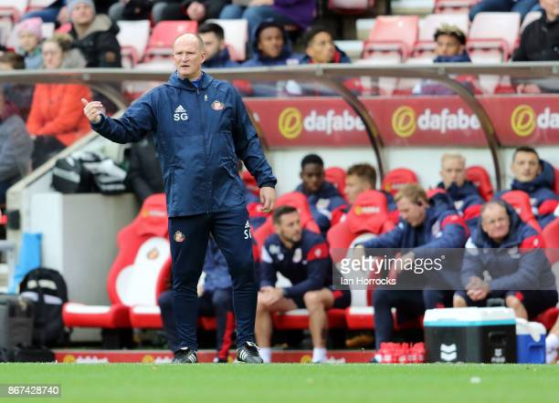 Sunderland manager Simon Grayson during the Sky Bet Championship match between Sunderland and Bristol City at Stadium of Light on October 28 2017 in...