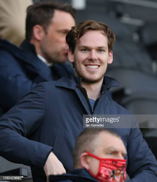 Sunderland owner Kyril Louis-Dreyfus during the Sky Bet League One match between Hull City and Sunderland at the Kcom Stadium on April 20, 2021 in...
