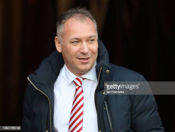 Sunderland owner Stewart Donald during the Sky Bet League One match between Sunderland and Wycombe Wanderers at Stadium of Light on November 17, 2018...
