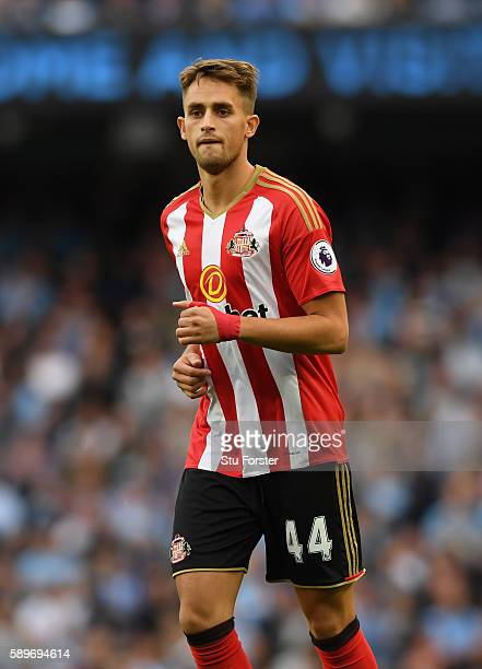 Sunderland player Adnan Januzaj in action during the Premier League match between Manchester City and Sunderland at Etihad Stadium on August 13 2016...