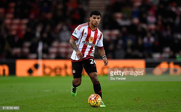 Sunderland player DeAndre Yedlin in action during the Barclays Premier League match between Sunderland and Crystal Palace at Stadium of Light on...