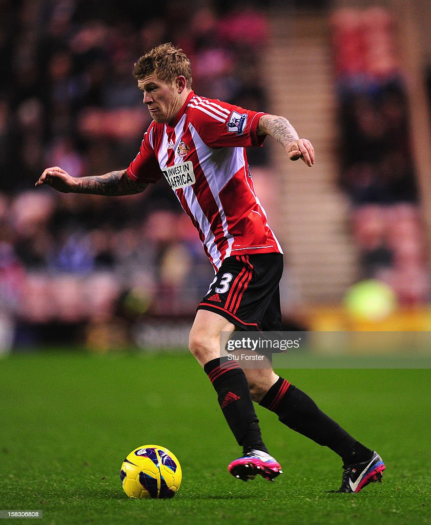Sunderland player James McClean in action during the Premier League match between Sunderland and Reading at Stadium of Light on December 11, 2012 in Sunderland, England.