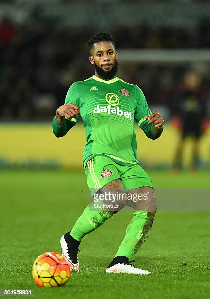Sunderland player Jeremain Lens in action during the Barclays Premier League match between Swansea City and Sunderland at Liberty Stadium on January...