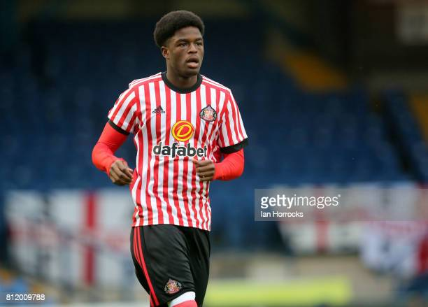 Sunderland player Josh Maja at Gigg Lane during a preseason friendly between Bury and Sunderland on July 7 2017 in Bury United Kingdom