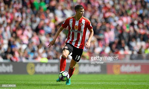 Sunderland player Paddy McNair in action during the Premier League match between Sunderland and Middlesbrough at Stadium of Light on August 21 2016...