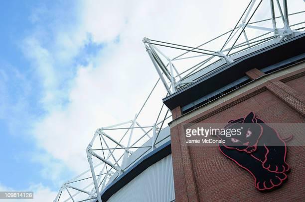 Sunderland sign is seen outside of The Stadium of Light home of Sunderland Football Club on March 6 2011 in Sunderland England