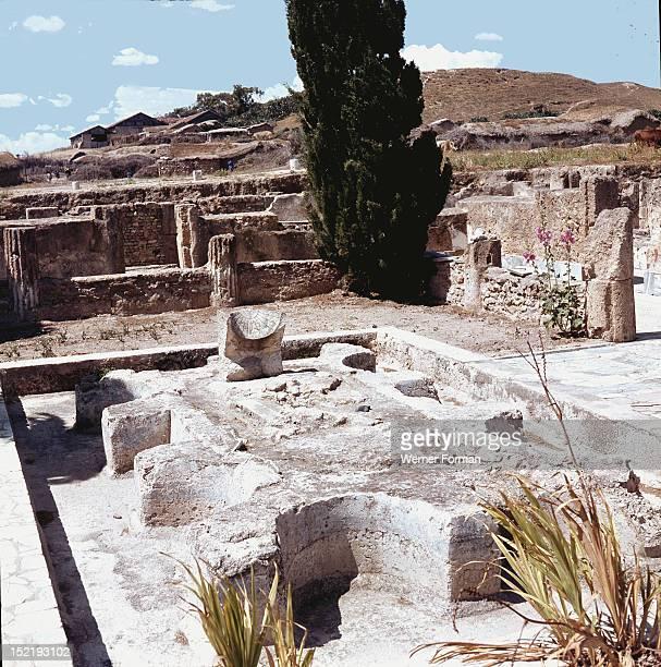 Sundial at Bulla Regia Tunisia Roman 2nd3rd Century
