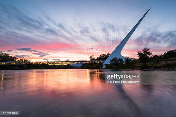 Sundial Bridge Sunset, Redding CA