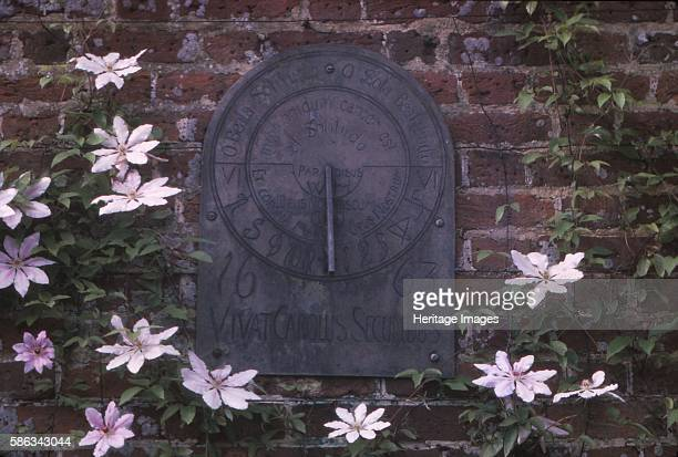 Sundial Dated 1663 in Grounds of Polesdon Lacey Surrey 20th century An Edwardian sundial inscribed 'Vivat Carolus Secundus' in estate located on the...