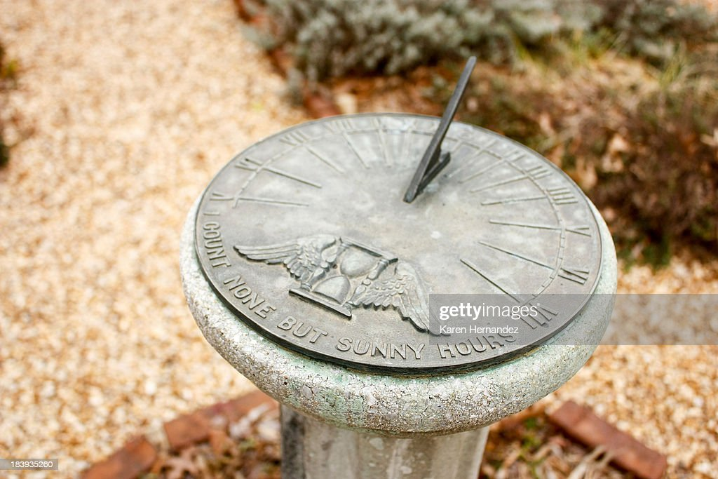 Sundial garden accessory : Stock Photo