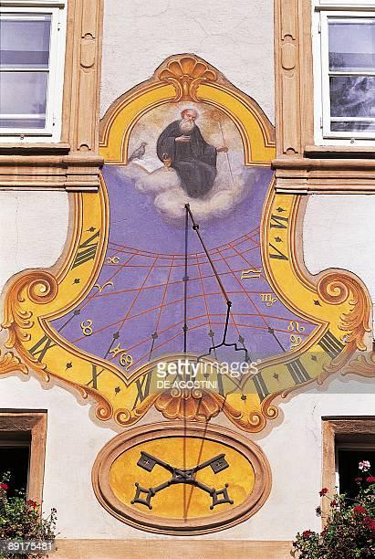 Sundial on a wall Salzburg Austria