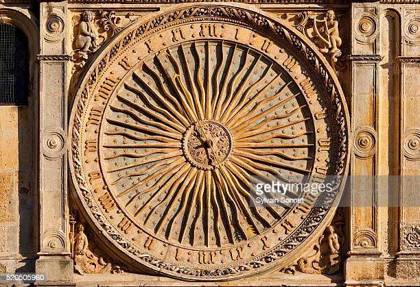Sundial on Notre Dame de Chartres Cathedral