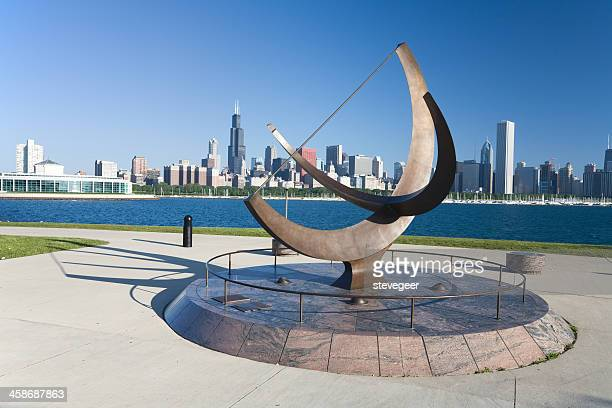 Sundial Sculpture at the Adler Planetarium, Chicago