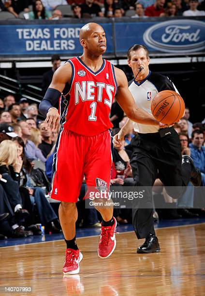 Sundiata Gaines of the New Jersey Nets handles the ball against the Dallas Mavericks on February 28 2012 at the American Airlines Center in Dallas...