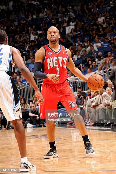 Sundiata Gaines of the New Jersey Nets looks to make a move against the Orlando Magic on March 16 2012 at Amway Center in Orlando Florida NOTE TO...