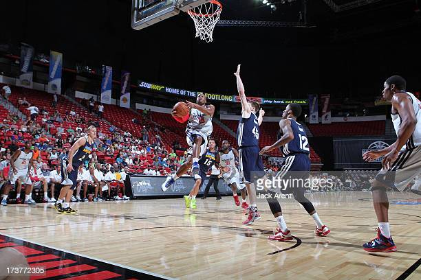 Sundiata Gaines of the Washington Wizards goes up for the shot against the Memphis Grizzlies during NBA Summer League on July 17 2013 at the Thomas...