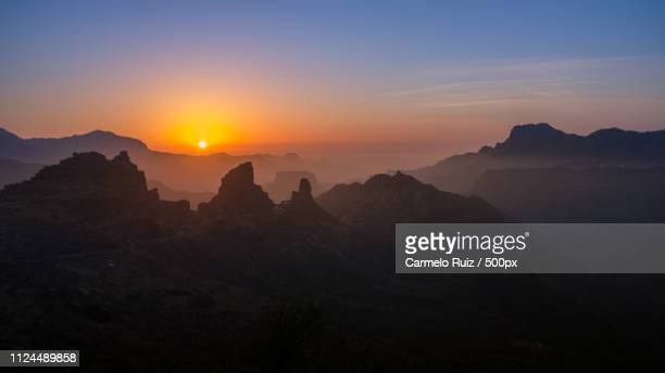 sundown - tejeda stock pictures, royalty-free photos & images