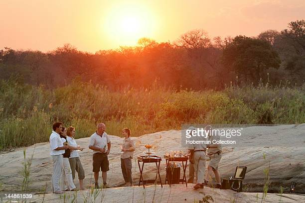 Sundowners in the Wild Kirkmans Camp Safari Lodge Mala Mala Kruger National Park South Africa Africa