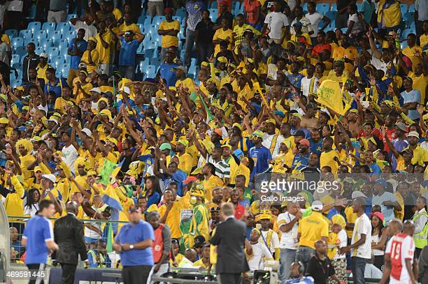 Sundowns fans during the Absa Premiership match between Mamelodi Sundowns and Ajax Cape Town at Loftus Stadium on February 15 2014 in Pretoria South...