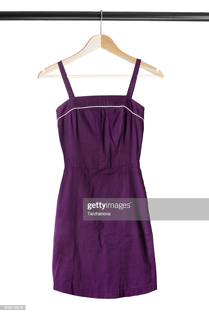 Sundress on clothes rack : Stock Photo
