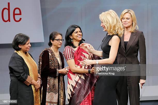Suneeta Dhar Asma Jahangir Kalpana Viswanath Maria Furtwaengler and Nina Ruge attend the 'Roland Berger Human Dignity Award' ceremony at Jewish...