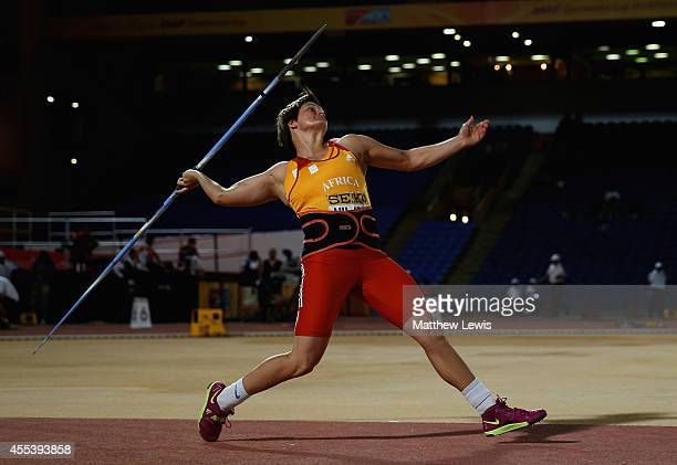 Sunette Viljoen of Africa in action during the Womens Javelin Final during day one of the IAAF Continental Cup at the Stade de Marrakech on September...