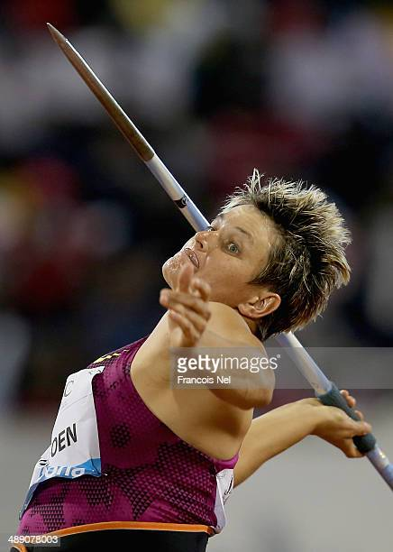 Sunette Viljoen of South Africa competes during the 2014 Doha IAAF Diamond League at Qatar Sports Club on May 9 2014 in Doha Qatar