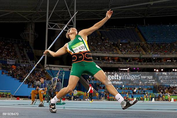 Sunette Viljoen of South Africa competes during the Women's Javelin Throw Final on Day 13 of the Rio 2016 Olympic Games at the Olympic Stadium on...