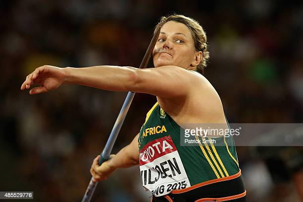 Sunette Viljoen of South Africa competes in the Women's Javelin qualification during day seven of the 15th IAAF World Athletics Championships Beijing...