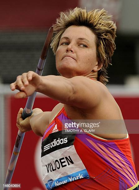 Sunette Viljoen of the Republic of South Africa competes in the Women's Javelin at the 2012 Adidas Grand Prix race on June 9 2012 at Icahn Stadium on...