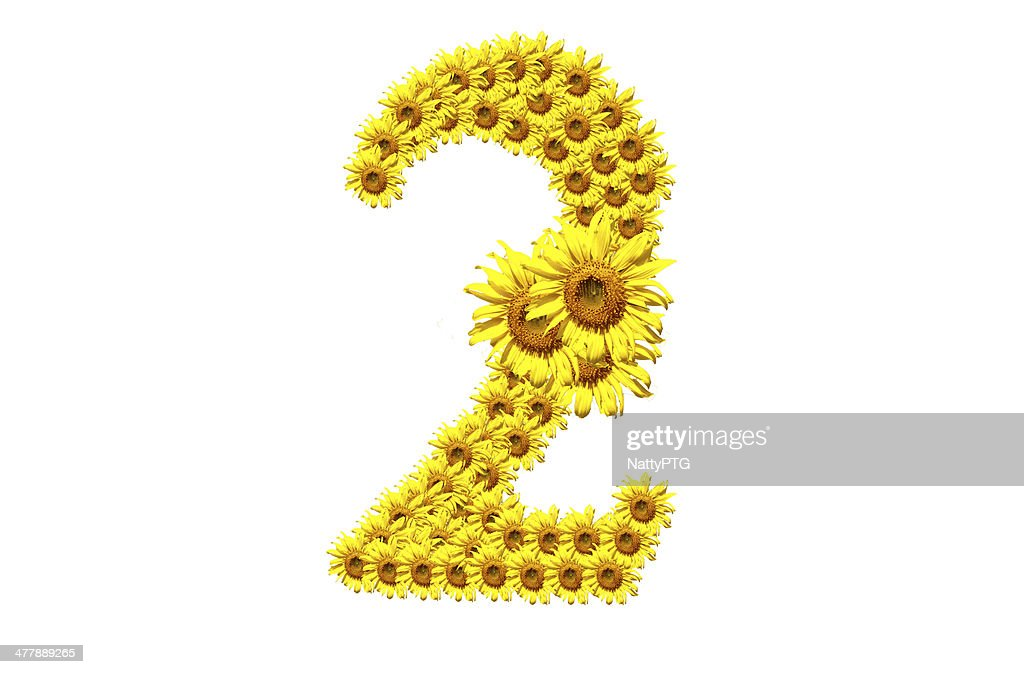 2 Sunflower Number Stock Photo Getty Images
