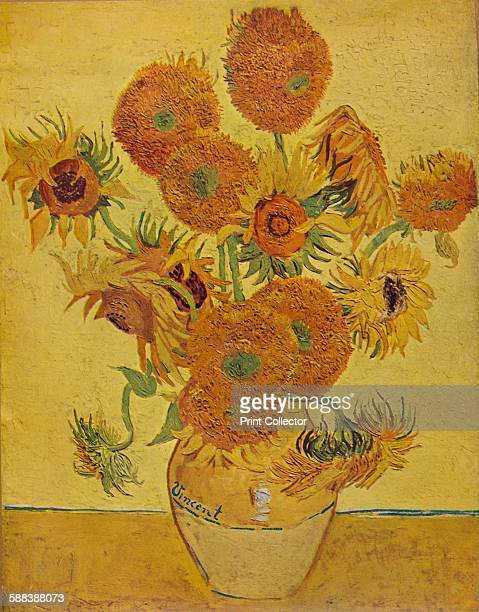 Sunflowers' 1888 After the painting by Vincent Van Gogh' 1935 From Modern Masterpieces Part 2'