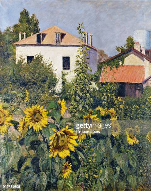 Sunflowers Garden at Petit Gennevilliers ca 1885 Private Collection