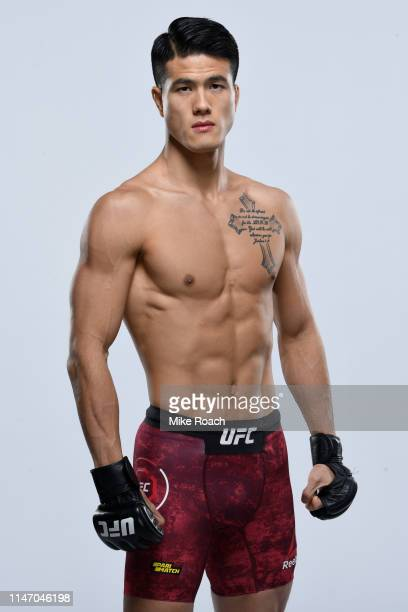 Sung bin Jo of South Korea poses for a portrait during a UFC photo session on May 29 2019 in Stockholm Sweden