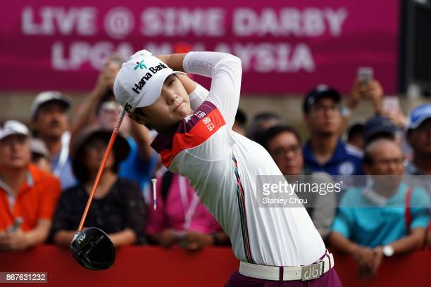 Sung Hyun Park of South Korea in action during day four of the Sime Darby LPGA Malaysia at TPC Kuala Lumpur East Course on October 29 2017 in Kuala...