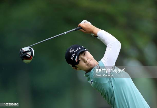 Sung Hyun Park of South Korea plays her tee shot on the par 5 15th hole during the final round of the 2019 KPMG Women's PGA Championship at Hazeltine...