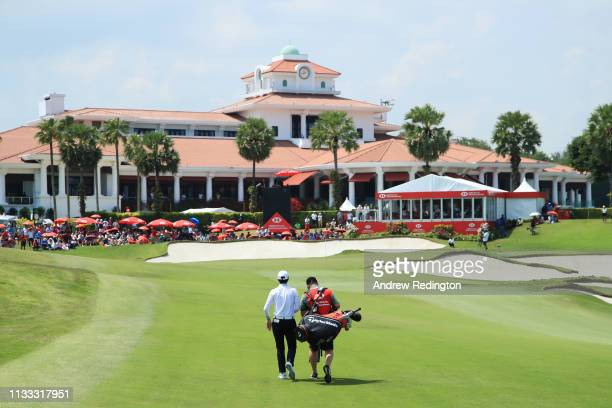 Sung Hyun Park of South Korea walks on the 18th hole during the final round of the HSBC Women's World Championship at Sentosa Golf Club on March 03...