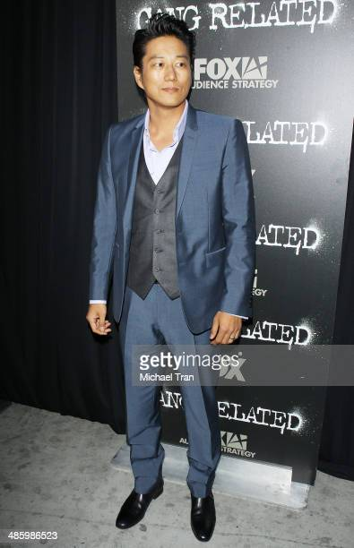Sung Kang arrives at FOX's Gang Related TV series premiere held at Homeboy Industries on April 21 2014 in Los Angeles California