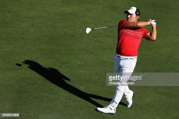 Sung Kang of Korea plays a tee shot on the 11th hole during the third round of the Waste Management Phoenix Open at TPC Scottsdale on February 4 2017...
