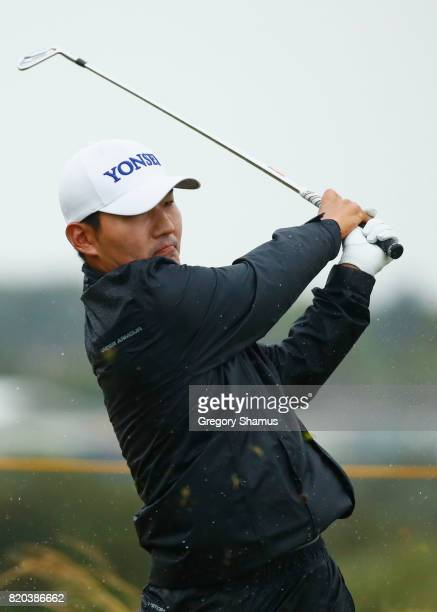 Sung Kang of Korea tees off on the 15th hole during the second round of the 146th Open Championship at Royal Birkdale on July 21 2017 in Southport...