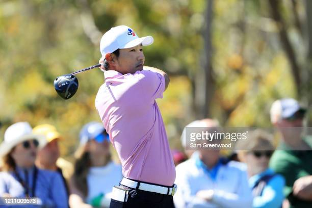 Sung Kang of South Korea plays his shot from the third tee during the third round of the Arnold Palmer Invitational Presented by MasterCard at the...