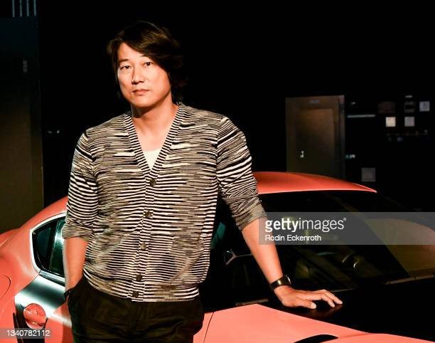 Sung Kang poses for a portrait at the F9 Fest event on the Universal Studios backlot celebrating F9: The Fast Saga on September 15, 2021 in Universal...