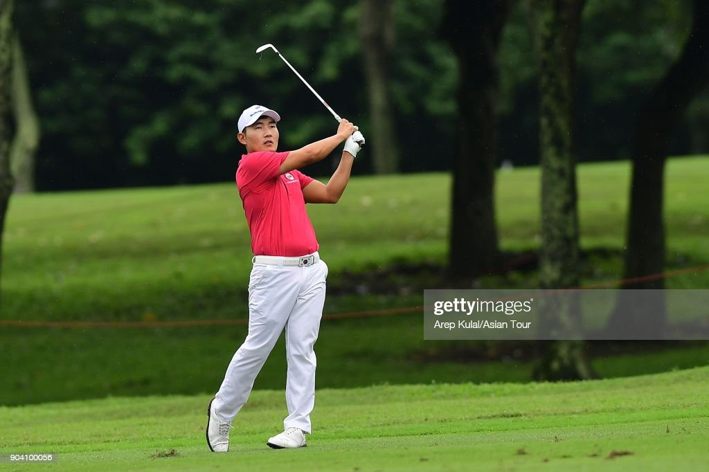 Sunghoon Kan of Team Asia pictured during the day one of the Eurasia Cup 2018 presented by DRB HICOM at Glenmarie G&CC on January 12, 2018 in Kuala Lumpur, Malaysia.