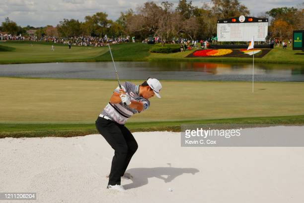 Sungjae Im of South Korea plays a shot from a bunker on the eighth hole during the final round of the Arnold Palmer Invitational Presented by...