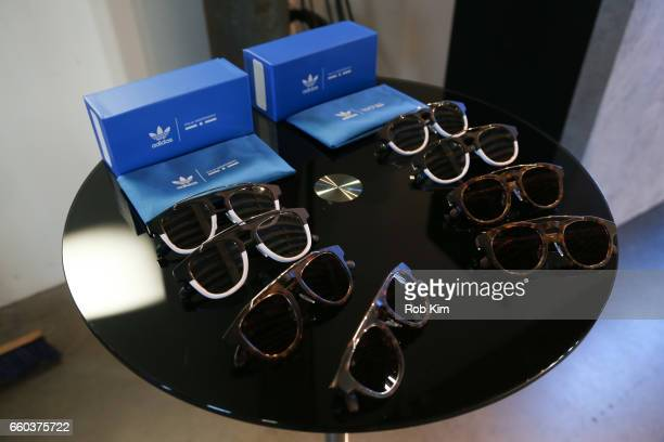 28b0245320fa Sunglass products on display at the Italia Independent x adidas Originals  Limited Edition 70 s Inspired Collection