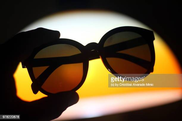 Sunglasses Against Lamp